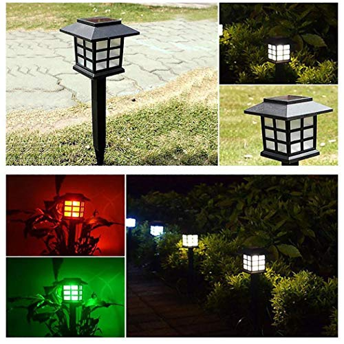 Wanbigo Solar LED Garden Light Waterproof Outdoor Lawn Walkway Patio Lamp Decor Step Lights