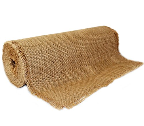 Burlap Roll w/ FRINGED EDGES - 12