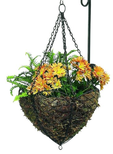 (Scalloped Open Iron Hanging Basket | Wall Planter Wire Flower Outdoor)