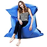Mchoice Giant Beanbag Cushion Pillow Indoor Outdoor Relax Gaming Gamer Bean Bag (Blue)