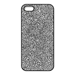 FEEL.Q- Unique Custom TPU Rubber iPhone 5/5S Case Cover - ZQ Keith Haring