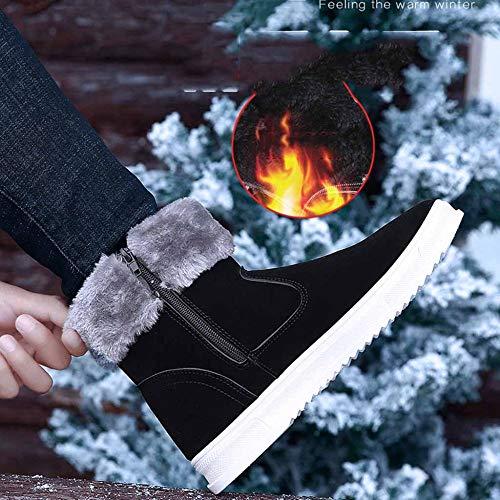 Superior Invierno Algodón Deportivos Hombres Más Zapatos Botas Black Los Gruesos Cálidos Nieve De Alta Terciopelo ROxA1w