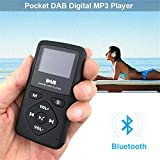 Pocket DAB Radio Portable Digital MP3 Player with Bluetooth Lossless Sound Metal Music Player with FM Radio, Touch Button, Support up to 32G