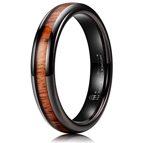 Amazon.com: Anillo de boda de tungsteno de 0.157 in con ...