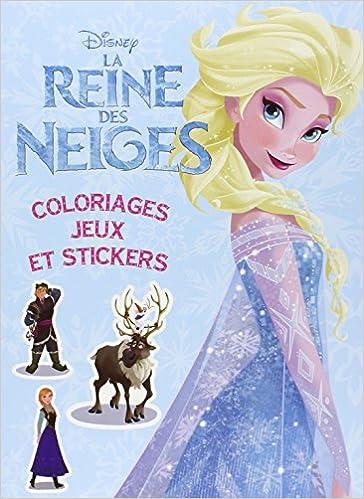Amazonfr La Reine Des Neiges Colos Jeux Et Stickers Disney