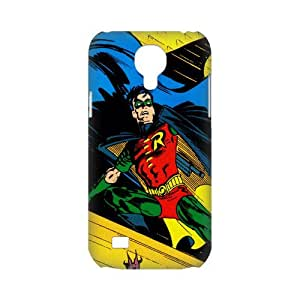3D Print Hot Robin comics & Batman Background Case Cover for SamSung Galaxy S4 mini i9192/i9198 - Personalized Hard Cell Phone Back Protective Case Shell-Perfect as gift