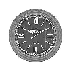 AR Lighting London Wall Clock in Preda Aged Grey