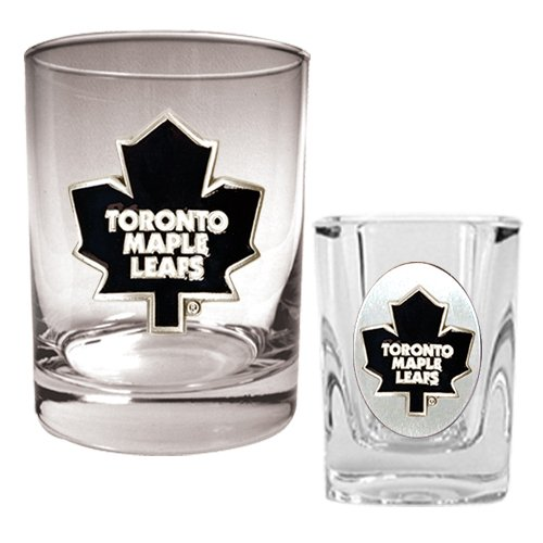 Great American NHL Rocks and Square Shot Glass Set