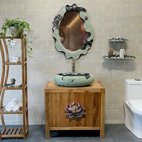 カウンター盆地トイレ洗面ホームパーソナリティ洗面プール(55X14CM)上記クリエイティブレトロなバスルーム P3/18