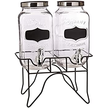 Style Setter Blackboard Beverage Dispenser Set with Stand