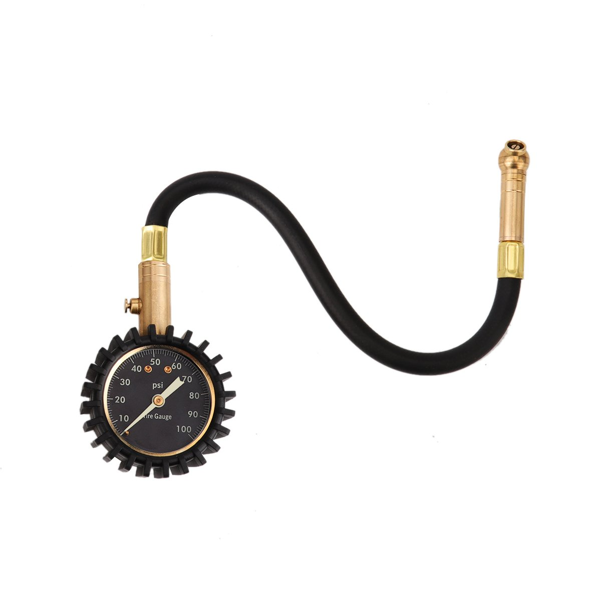 LiangGui Tire Pressure Gauge, Accurate Heavy Duty Dial For Your Car Truck and Motorcycle Black