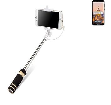 K-S-Trade® Selfie Stick Palillo para TP-Link Neffos C5 Plus, Negro ...