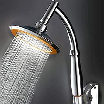 100/% Metal Rain Shower Head Square 12 inch Rainfall Showerhead with 2.5 GPM High Pressure Water Flow Chrome Large Luxury Rainshower for Wall Mount Overhead or Ceiling Mounted Waterfall