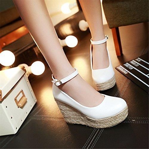 Casual Calzado Zapatos Tejidos DEDE Señora Calzado Sandalette white de q5Iw0x4wOX