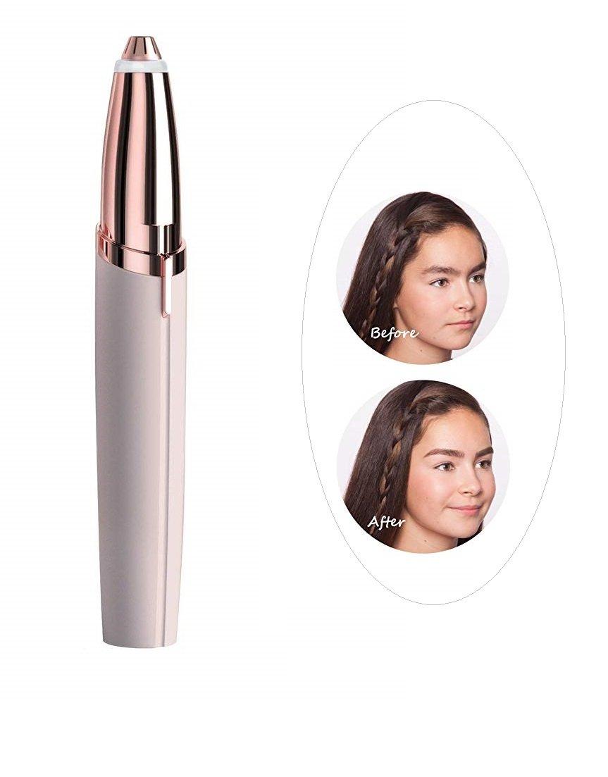 Augenbraue Haarentferner Angenbrauen Trimmer Rasierer Elektrisch Batteriebetrieben, Eyebrow Hair Remover Ginkago