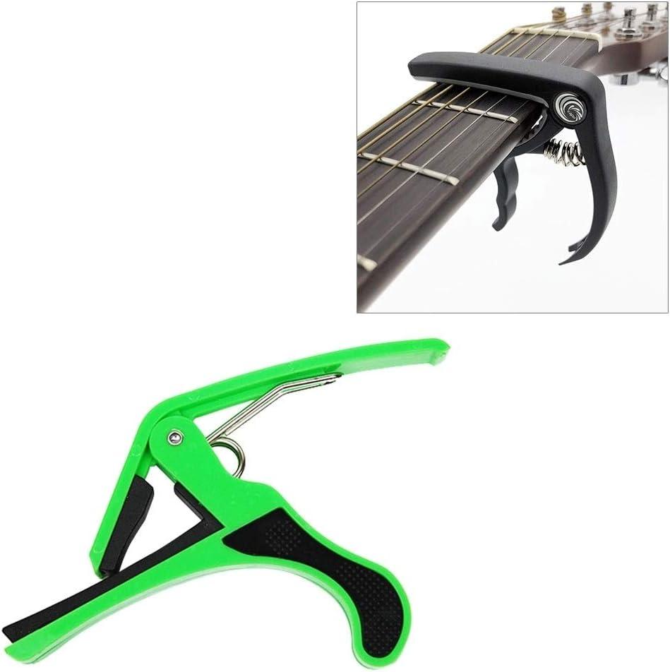 LIUXING Guitarra de plástico Capo for 6 Cuerdas acústica clásica eléctrica Guitarra Tuning Clamp Instrumentos Musicales XING ( Color : Green )