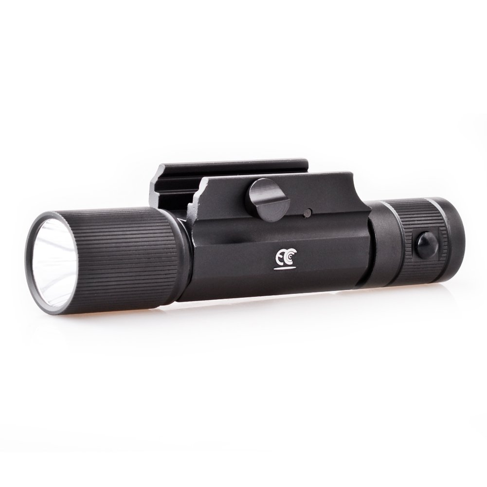MCCC 500LM LED Tactical Gun Flashlight Rifle Light, 4-Mode Rail-mounted Tactical Light, Strobe Light,with Pressure Switch by MCCC