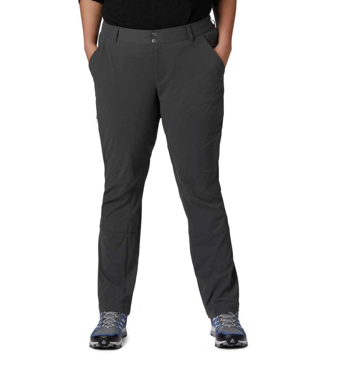 Columbia Women's Big and Tall Saturday Trail Pant, Grill, 4/Long by Columbia
