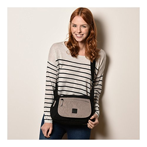 Artsac Zip Womens Grey Black Cross Bag Body 50022 Shoulder Top Bag ATAxBwqr