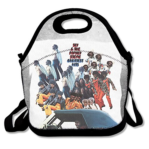 Bakeiy Sly And The Family Stone Poster Lunch Tote Bag Lunch Box Neoprene Tote For Kids And Adults For Travel And Picnic School