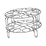 Dolity Egg Steam Rack Stand Food Steaming Basket Holder Stainless Steel Cooker - 2 Layers A