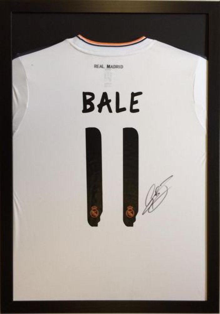 ready made shirt frame black black or white mount for signed football rugby cricket shirt