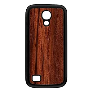 Dark Wood Grain Texture Black Silicon Rubber Case for Galaxy S4 Mini by UltraCases + FREE Crystal Clear Screen Protector