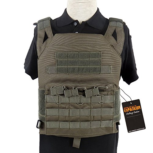 Excellent Elite Spanker Tactical Airsoft Outdoor Molle Breathable JPG Vest Game Protective Vest Modular Chest Set Vest for fun(Ranger Green) by EXCELLENT ELITE SPANKER