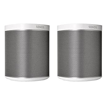 Sonos PLAY 1 2-Room Wireless Smart Speakers for Streaming Music – Starter Set Bundle White