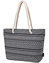 Womens Large Beach Tote Bag Shopping Bag with Thick Rope Handle E00252