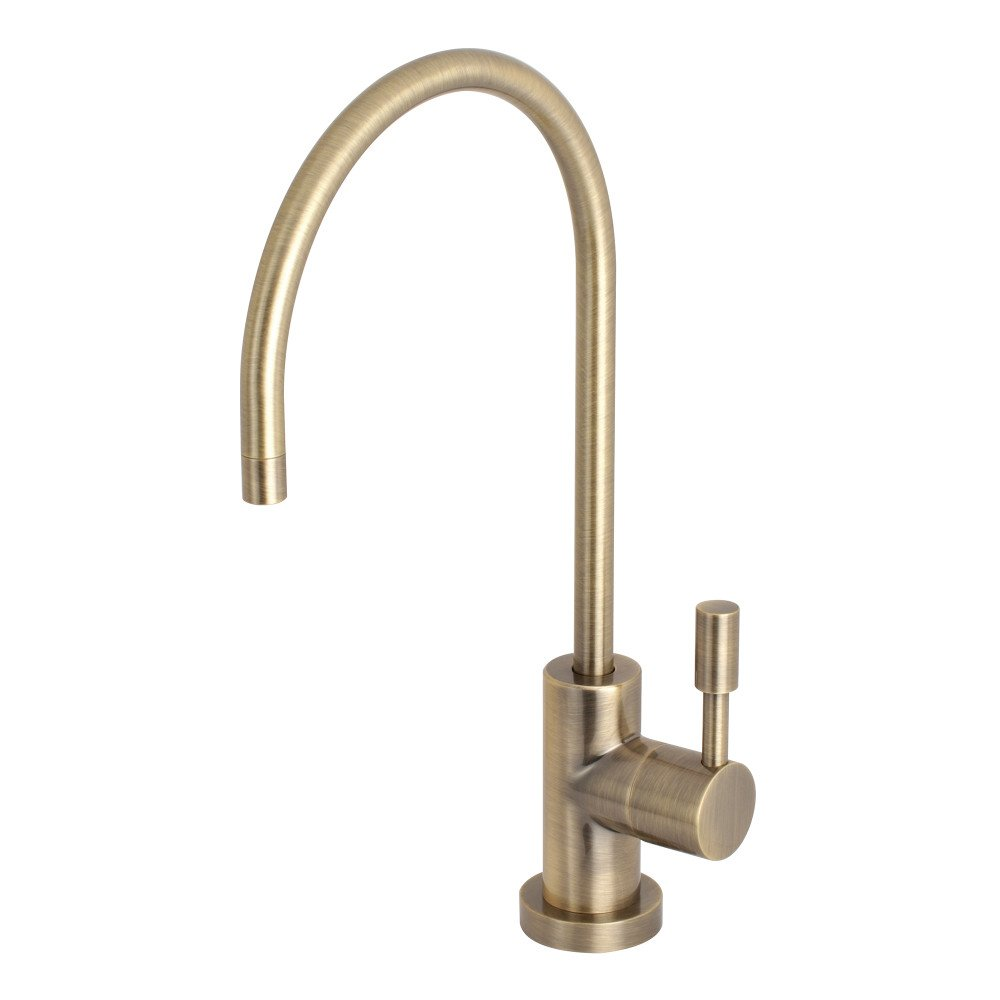 Kingston Brass KS8193DL Concord Single Handle Water Filtration Faucet, Antique Brass