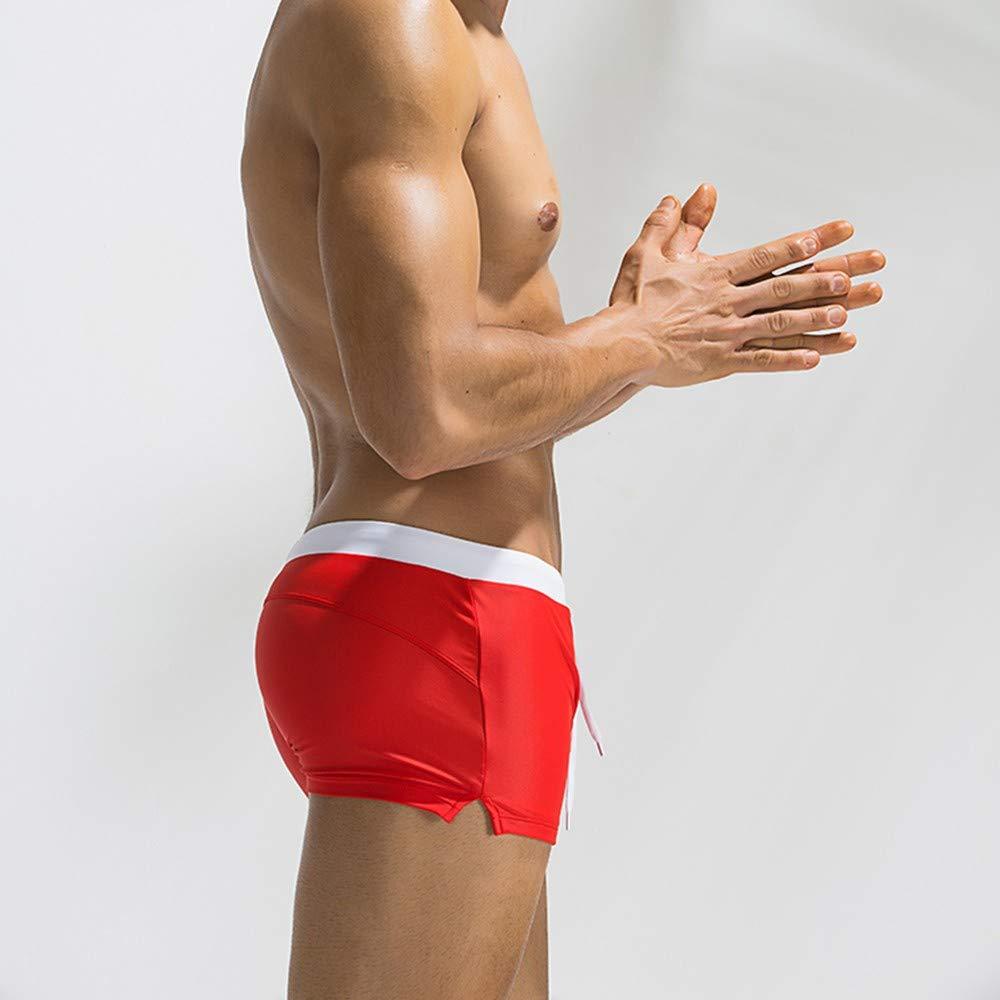 Oyedens Uomo Pantaloncini e Calzoncini Costume da Bagno Boxershorts con Il Drawstring Regolabile Dentro Cerniera Tasche Mare Piscina Sport Slip Tronchi di Nuoto Pantaloncini Calzoncini Mutande