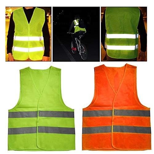 Amarillo XXXL Chaleco Reflectante de Advertencia Ropa de Trabajo D/ía de Alta Visibilidad Chaleco Protector de Noche para Correr Seguridad del tr/áfico en Bicicleta