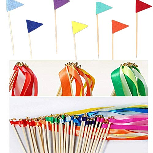 Wedding Wands, Ribbon Wands Silk Ribbon with Bells Streamers Wands Wedding Birthday Party, 40 -