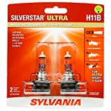 Automotive : SYLVANIA - H11B SilverStar Ultra - High Performance Halogen Headlight Bulb, High Beam, Low Beam and Fog Replacement Bulb, Brightest Downroad with Whiter Light, Tri-Band Technology (Contains 2 Bulbs)