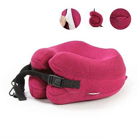 Almohada para el Cuello: con Estuche y cómodo cojín portátil ...