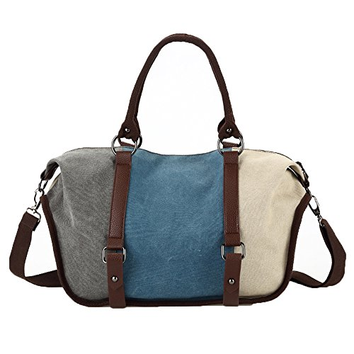 Bag Unisex Travel Messenger Cross Bag Satchel Bag School 1060 Body Vintage Canvas Handbag Hobo Shouder Bucket Canvas Bag 827 Women Bag Gurscour Bags Men's blue EU 7qxFpvaWzw