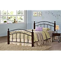 Coaster Furniture 400024T Kyan Metal Youth Twin Bed In Cappuccino