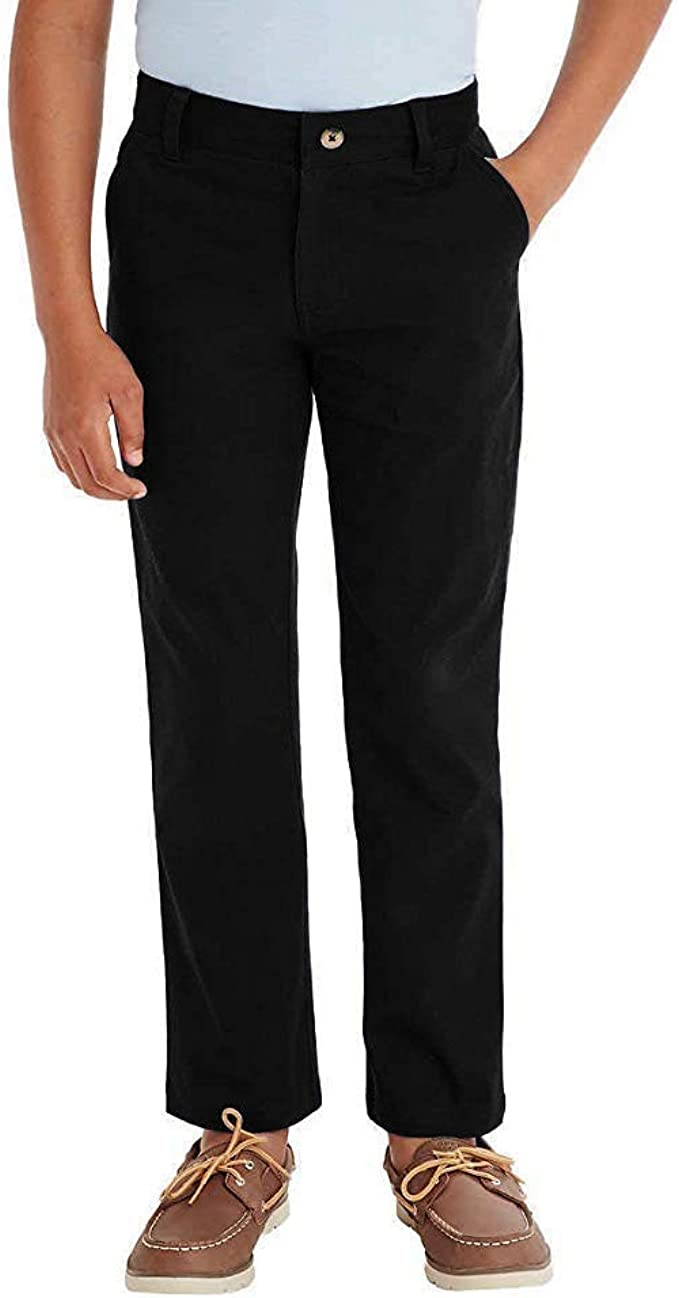French Toast Boys Adjustable Waist Stretch Straight Fit Chino Pant