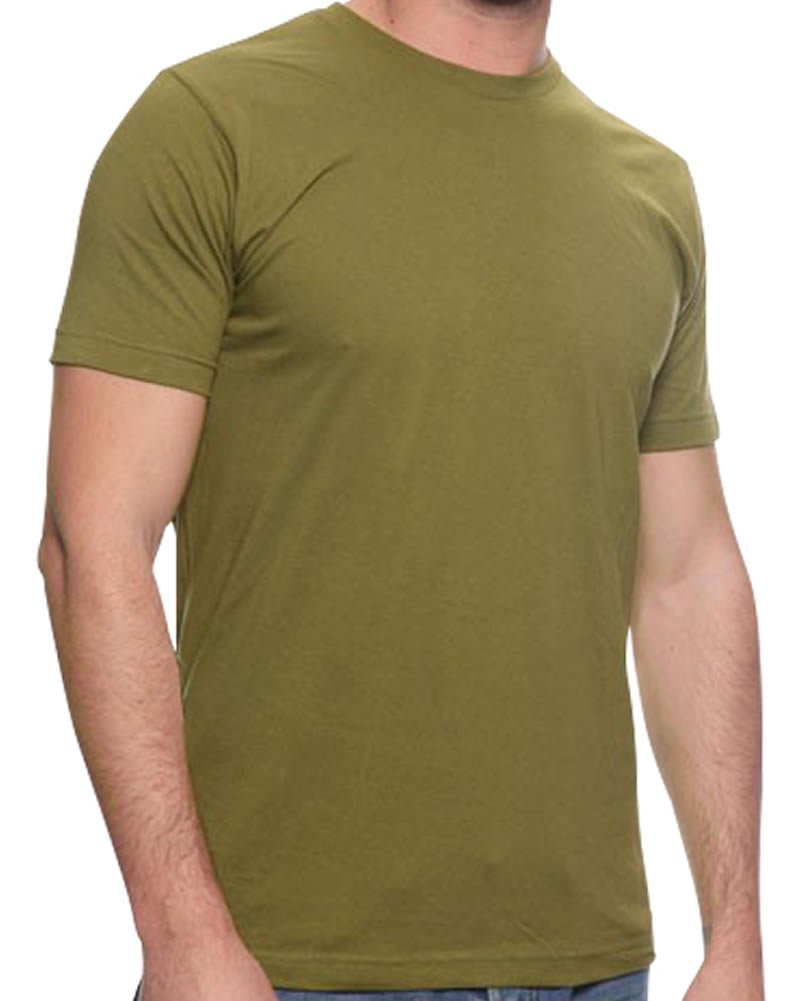 All American Clothing Co. Men's Lightweight Fine Jersey Tee Large MilitaryGreen