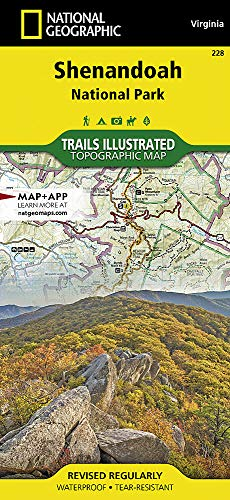 Shenandoah National Park (National Geographic Trails Illustrated Map) (Charlottesville Va In Stores)
