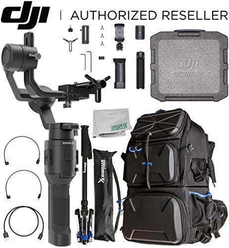DJI 2019 Ronin-SC Compact Stabilizer 3-Axis Gimbal Handheld Stabilizer (Loki) for Mirrorless Camera Essential Travel Bundle - CP.RN.00000040.01