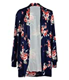 Clasichic Womens Boho Irregular Long Sleeve Wrap Kimono Cardigans Coat Tops Outwea