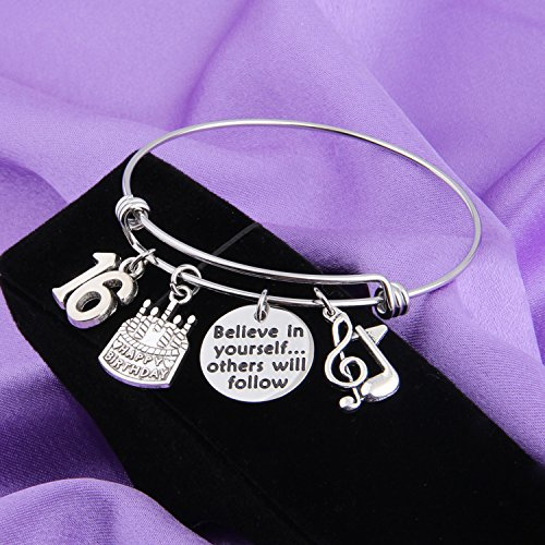 MAOFAED 21st birthday bracelet 13th Sweet 16 18th Inspiration Birthday Gift Believe in yourself Anniversary Jewelry (B-16th) by MAOFAED (Image #1)