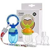 Baby Food Feeder Pacifier, Enno Fresh Fruit Feeding Pacifier Sucker Silicon Pouches Teething Toys Infant Kids & Toddlers, 2 Pack