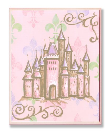 The Kids Room by Stupell Castle with Fleur de Lis on Pink