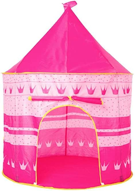 Childlike Tienda De Juegos para Niños, Princesa Castillo Jugar Carpa Plegable, Casa De Campaña De Tela, Carpa De Juegos para Niños, Tepee Tent Pop Up Carpa Plegable para Niños