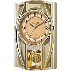 New Haven 6389ARMKS 18-1/2 by 11-3/4 by 3-Inch Melodies in Motion Pendulum Clock