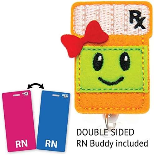 Pill Bottle RX Badge Reel - Pharmacy Badge Holder - Pharmacist Badge Clip Id Holder - Great Medical Gift