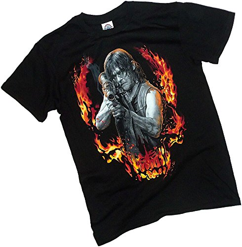 Daryl -- Bazooka Aftermath -- Front/Back The Walking Dead T-Shirt, (Back Cool Movie T-shirt)